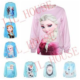 Wholesale 5pcs New Frozen D Digital Printing Women T shirt Multi Style Tshirt Shirts for Women Clothing Hoodie Hoody Fleece Sweatshirts Sweatshirt