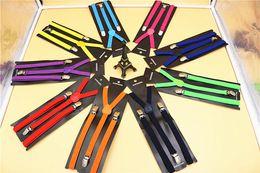 1500pcs alta qualidade cor de doces unissex ajustável calças Y-back Suspender Brace elástico clip-on cinto suspensórios ajustáveis Suspenders frete grátis