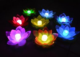 Wholesale 600pcs New Arrive LED Lotus Lamp in Colorful Changed Floating Water Pool Wishing Light Lamps Lanterns for Party Decoration