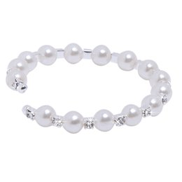 Wholesale Bridal Gloves Cheap Row Pearl Fashion Wedding Czech Crystal Women Bead Cuff Ivory Bracelet Jewelry Bridal Accessories Sets