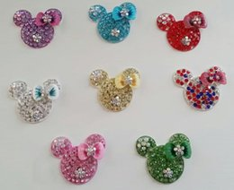 Wholesale mm flatback minnie rhinestone button for DIY BTN