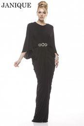 Wholesale Elegant Sheath Formal Janique abaya in dubai kaftan Muslim Evening Dresses With Sleeve arabic Evening Gowns robe de soiree Long