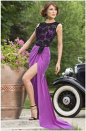 Wholesale 2015 Elegant Charming Sexy Sleeveless Purple Christmas Long Formal Prom Dress hollow Sexy Long Evening Party Dress Gowns