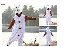 Wholesale Anime Costume Pajamas Frozen Olaf Snowman Cosplay White jumpsuit Adult Onesie Pyjamas Party clothes