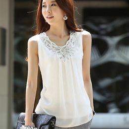Wholesale Blouse Femme Summer Tops Chiffon Pretty Blouses Women Blouse White Shirt Roupas Feminina Plus Size Clothing Ropa Mujer XXL