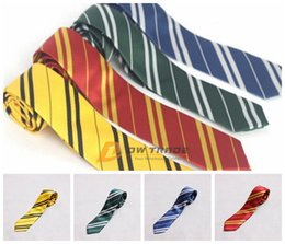 Wholesale DHL kids necktie Harry Potter college Red yellow blue green neck ties boys girls cosplay ties kids stripe party tie J012302