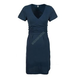 Wholesale 2014 summer maternity dress pregnant clothes V Collar cotton one piece dress for pregnant women SV004910