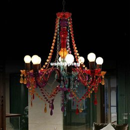Colorful Chandeliers: 2017 colorful chandeliers lighting New Luxury crystal Chandelier and  Pending K9 Crystal ceiling Chandelier Lighting Colorful,Lighting
