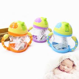 Wholesale Popular Sale Baby Kids Handle Straw Water Bottle ml Cute Water Juice Training Bottle For Kids Cup Children Gift JD0049