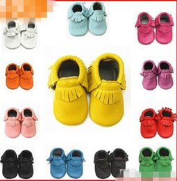 Wholesale 20 off EMS DHL HIGH Quality Lovely Baby Moccasins Kids Infant Shoes Leather Moccs Baby Girl Boy Shoes Christmas Gift infant pairs pcsl