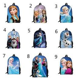 Wholesale 2014 kids backpacks for girls cm frozen backpack anna elsa children s school bag D travel Zipper Notebook Bag