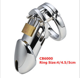 Wholesale Men Cock cage Metal Male Chastity device Steel Chastity Belt Sex Toys Penis Cage cm long penis sleeve metal cock ring