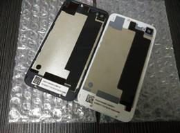 Parte posterior del reemplazo de la contraportada de la puerta de la cubierta de la batería de la parte posterior con el difusor de destello para el iphone 4 4S DHL libera