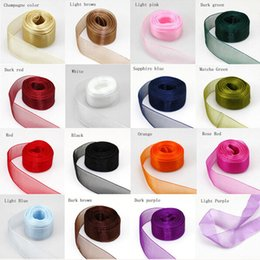 Wholesale 500yards quot mm Quality Sheer Woven Edge Organza Chiffon Ribbon price color