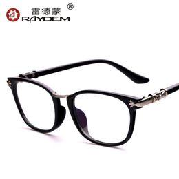 Wholesale Optical glasses authentic retro men and women myopia frame optical frames decorated Korean big box full frame glasses frame