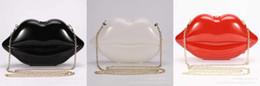 Wholesale Bridal Bag New Popular Big Lips Pattern Women Bag Clutch Chain Shouder Bag Evening Bolsas Lips Shape PU Leather Handbags Z