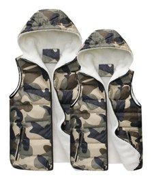 Wholesale 2014 autumn fall winter New women men lovers vest casual fleece vests coats outwear sleeveless camouflage jackets men s clothing XN8