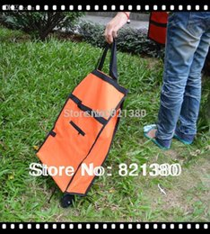 Wholesale Rolling folding shopping bag portable shopping cart foldable shopping trolley bag with wheel