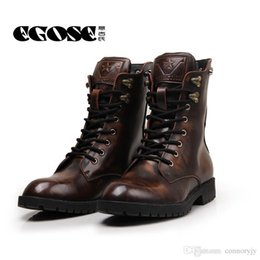 Mens Genuine Leather Combat Boots Suppliers   Best Mens Genuine ...