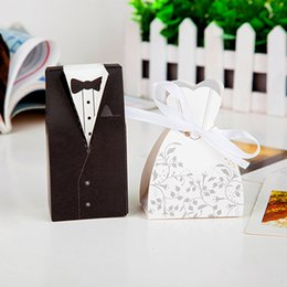 Wholesale New Arrival bride and groom box wedding boxes favour boxes wedding favors pairs G120