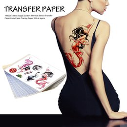Wholesale 25pcs Professional layers Tattoo Supply Carbon Thermal Stencil Transfer Paper Beauty Tattoo Tool Copy Paper Tracing Paper