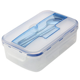 kitchen containers for sale hot sale portable  ml microwave bento lunch box for food container storage boxes with spoon locked lid for home kitchen