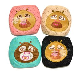 Wholesale NEW Baby Children Face Masks Cartoon Design Double Cotton Masks Kids Wear Accessories Mix Color