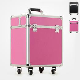 Wholesale Multi Layer Storage Box Trolley Suitcase Travel Bag Large Capacity Makeup Cosmetic Box Waterproof Women Rolling Luggage JO0023 Salebags