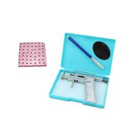Wholesale Professional Steel Ear Nose Navel Body Piercing Gun Studs Tool Kit Set