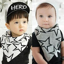 Wholesale Fashion Children Korean saliva towels Kids Accessories Boys Girls Bibs Stra Babies Bibs Burp Baby Printed Esmarch bandage White Grey A5195