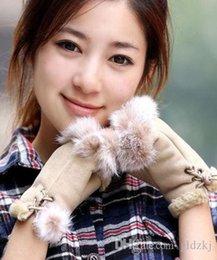 Wholesale New Women s Rabbit Fur Hand Wrist Warmer Fingerless gloves colors