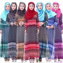 Wholesale Islamic Women s Clothing Colorful Abaya Muslim Ladies Fashion Long Dresses For Evening Party Ethnic Clothing