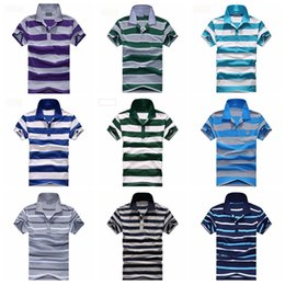 Wholesale IMVATION New Fashion Top Quality Hot Sale Popular Men s polo golf tennies Shirt Tops colorful striped casual sport size L XL XXL