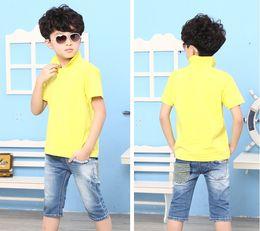 Wholesale children new Summer Children Boys T shirt Polo Kids Clothing Boys and girls horse ball pattern Children s short sleeved T shirts