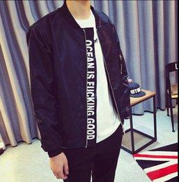 Wholesale 2015 Hi Calle Mens FashionYeezy Bomber Jacket Negro y gris estilo militar MA1 Casual Hip Hop de la chaqueta de Kanye West de los hombres