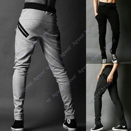 Wholesale Men s Cool Harem Trousers Skinny Pants Legging Straight Fit Sports Sweat Pants