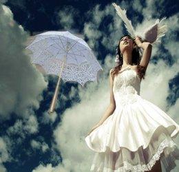 Wholesale 2015 Lace Parasol Sun Umbrella Ribbon Parasol Umbrella Hot Out Design Wedding Bridal umbrella