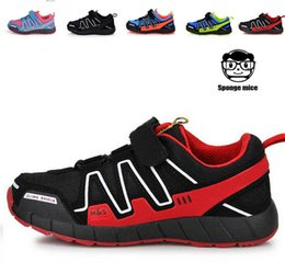 Wholesale New arrival Salomon Child Sport Shoes Boys and Girls Sneakers Casual Athletic Shoes Children s Running Shoes for Kids PAIRS
