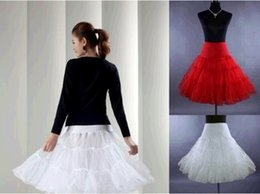Wholesale 2015 Vintage Knee Length Swing Skirt Prom Silps Crinoline Bridal Petticoat Underskirt pieces