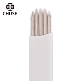 Wholesale High Quality CHUSE A16 U Shape Eyebrow Tattoo pin Needle Superior Blades For Permanent Makeup Manual Pen