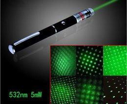 5mW 532nm lumière laser vert Pen pointeur laser Pen Pour SOS montage Nuit Chasse enseignement Xmas gros cadeau
