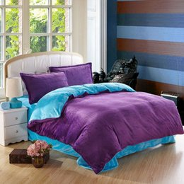 2015 Solid Larry Flannel Denim Bedding Set Thick Warm Winter Must-bedroom S Duvet  Cover Quilt Bed Sheet No Comforter