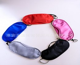 Wholesale New style Soft Eye Mask Shade Nap Cover Blindfold Sleeping Travel Rest Christmas gift