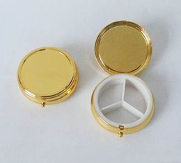 Wholesale Pill Boxes DIY Metal Pill Organizer pill case Holder Gift pill box