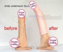 Wholesale Realistic Silicone Penis Sleeve Extender Male Dildo Extension Enlarger Condoms Men Delay Spray Cock Ring Adult Sex Toys For Men