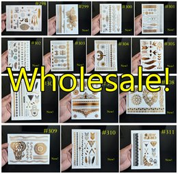 Wholesale Flash Tattoos DHL ARAMEX EMS Temporary Tattoo Metallic Jewelry Tattoos Bracelet Tattoos pieces