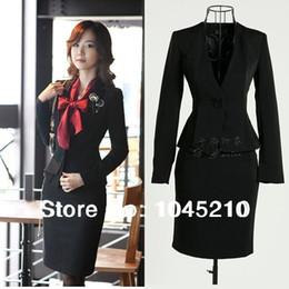 Wholesale 4XL Plus Size Beautiful Ladies Fashion Business Suits Women Blazer with Pencil Skirt Suit Sets Fashion Office Clothing Skirt Sets