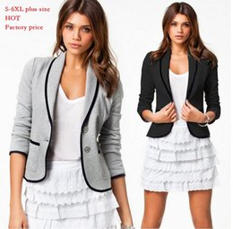 Wholesale Womens casual Blazers jackets Short Fashion brand Designer lady Spring Autumn Turn Down Collar Slim Candy Color Jacket Coat plus size S XL
