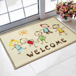 Welcome Doormat 40x60cm Cartoon Kids Printed Tapetes Bath Mat For Children  Living Room Bathroom Carpet Nylon Mats Wholesale Rugs