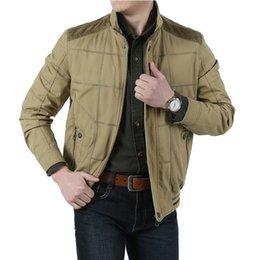 Wholesale Fall New Arrival Men s Jackets Cotton Plaid Green Khaki Military Style Jackets Outdoor Jacket Coat for Men Plus Size M XL